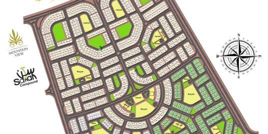 شقه بالاندلس شرق موقع مميز جدا على القطاميه ديونز وجاردنز مساحه 185م للبيع